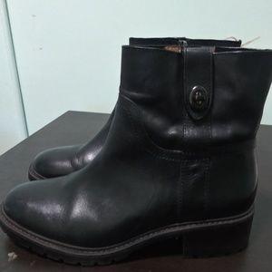 Coach Georgetta women ankle black boots 8b
